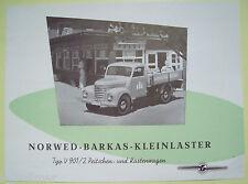 ✪Sales Brochure PROSPEKT Norwed-Barkas-Kleinlaster V 901/2 Pritschen&Kastenwagen
