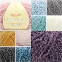 Sirdar Snuggly Bouclette Fluffy Pastel Knitting Wool Yarn 50g
