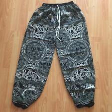 Thai Elephant Yoga Pants  Harem Hippie Gypsy Boho Baggy Trousers Rayon Beach Men