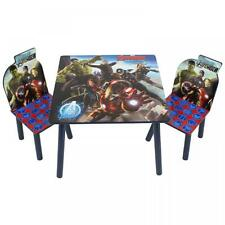MARVEL AVENGERS WOODEN TABLE & CHAIRS FURNITURE SET CHILDRENS KIDS XMAS GIFT