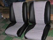 PORSCHE 911 1965-73 SEAT KIT BLK/WHT HOUNDS TOOTH OEM GERMAN VINYL KIT NEW