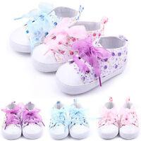 Kid Baby Girl Toddler Non-slip Soft Sole Crib Sneaker Shoes Prewalker Boot 0-18M