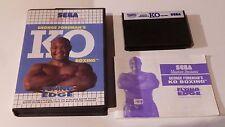 Jeu Sega Master System - George Foreman's KO Boxing complet version Française