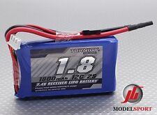 Turnigy 1800mAh 2S 12C 7.4V lipo batterie récepteur pack jr/futaba plug rx