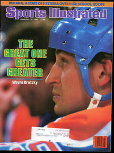 1 - 8 1/2 x 11  Sports  Illustrated Wayne Gretzky Feb 18th 1985 The Great One