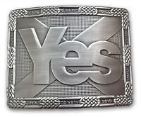Yes Scotland Saltire Belt Buckle