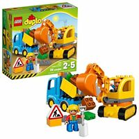 LEGO DUPLO Town Truck & Tracked Excavator 10812, Best Gift for 1-4 Year-Olds