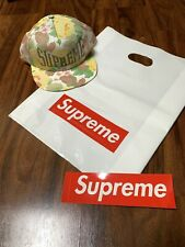 Supreme SS18 Floral 5 Panel Snapback Hat White Yellow New !!!