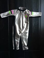 American Girl Doll Clothes Silver One Piece Athletic Jumpsuit w/ Foot Stirrups