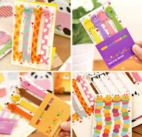 Cute Long memo Adhesive sticky notes school kids Animal Owls Giraffe index
