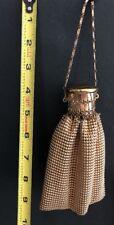 Whiting and Davis Original 1920s Gold Metal Mesh Gate Top ART DECO Bag Purse VTG