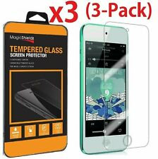 CUSKING Screen Protector for iPod Touch 5th //6th Generation Fingerprint Proof 3 Pack Bubble Free HD Crystal Clear Tempered Glass Screen Protector for iPod Touch 5th //6th Generation