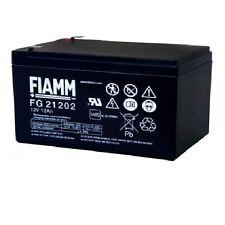BATTERIA FIAMM FG21202 12V 12A PIOMBO GEL ERMETICA 12AH RICARICABILE 13,8V 6.3mm