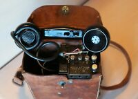 WW2 US Army EE-8-B FIELD TELEPHONE & TS-9-K Receiver FUNCTIONAL 1943