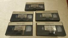 5 x  SONY High Grade VXSE-180 SE180 Visual Excellence   3 hour  SVHS Tapes boxed