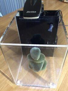 BETTA cube mini fishtank with LED light