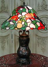 Lampe Tiffanylampe Tischlampe Glas Jugendstil Leuchte 060207