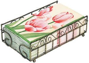Boston International Garden Gate Design Guest Towel Napkin Holder Caddy, Anti...