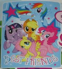 New Plush My Little Pony Best Friends Fleece Throw Gift Blanket Rainbow Dash NIP