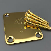 Guitar Neck Plate F for TL ST guitar well Gold