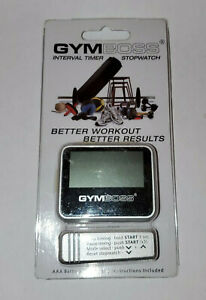 Gymboss Interval Timer and Stopwatch - Silver Better Workout Better Results