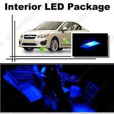 For Subaru Impreza WRX 2004-2018 Blue LED Interior Kit + Blue License Light LED