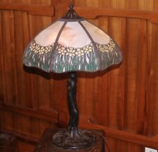 New listing Handel Daffodil table lamp, mission,arts and crafts