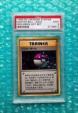 1998 Pokemon Japanese Starter *MASTER BALL* Holo Red/Green Deck Gift Set PSA-9