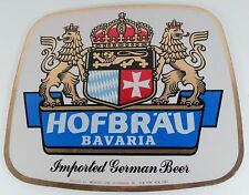 Hofbrau Bavaria Imported German Beer Stand Up Counter Sign