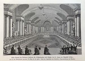 Institut de France - Erste Sitzung 1796 - Collège des Quatre Nations - Paris