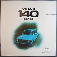 Original Vintage Volvo 140 Series Sedan/Wagons Over-Sized Car Dealer Brochure