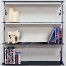 Bibliothèques, étagères et rangements noirs en verre pour le salon