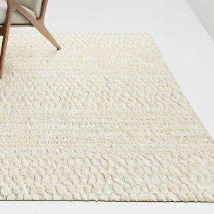 Area Rugs 9' x 12' NIAGRA Hand Tufted Crate & Barrel Rayon Carpet