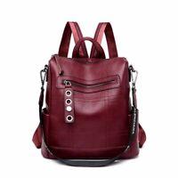 Women Rucksack Elegant Faux Leather Backpack Casual Fashion Ladies Shoulder Bag