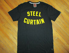 "PITTSBURGH STEELERS ""STEEL CURTAIN"" T SHIRT Retro 1970s DEFENSE Football Nike MD"