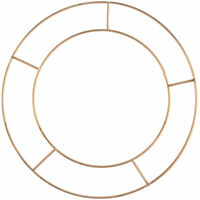 Basic Wire 12in Flat Wreath Ring - Single Floristry Hoop Frame