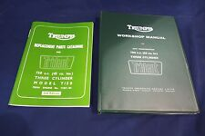 TRIUMPH TRIDENT T150 GENUINE WORKSHOP MANUAL AND ILLUSTRATED PARTS LIST 1969-70