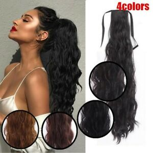 Long Ponytail Hair Extension Synthetic Wrap on Clip Hair Ponytail Extensions