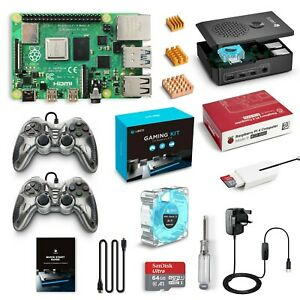 LABISTS Raspberry Pi 4 Gaming Kit 4GB RAM and 64GB SD Card 2 Game Controllers