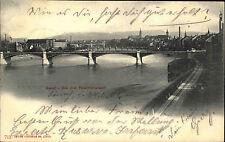 Basel Schweiz Suisse AK 1901 Drei Rheinbrücken Rhein Brücken Edition Photoglob