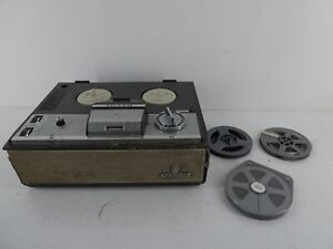 VINTAGE RETRO GRUNDIG TK141 REEL TO REEL TAPE RECORDER/PLAYER WITH TAPES E30