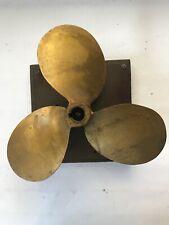 "Vintage Brass/Bronze 48202 Michigan 3 Blade Propeller Approx 10"""