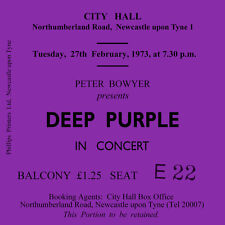 Deep Purple Concert Coasters February 1973 Ticket High quality Coaster