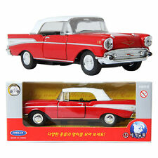 WELLY 1:34 1957 Chevrolet Bel Air/ Red / Toy / DIE-CAST Toy Model cars