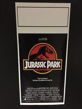Locandina Jurassic Park 33x70 ristampa digitale tiratura limitata