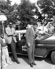 Photo. ca 1963. Boston, MA. Police Car Public Speaker System