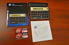 HP-12C Financial Calculator. Mint Condition. Complete with Guide, CD, Batteries
