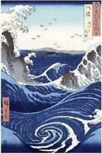 ART POSTER Whirlpool and Waves at Naruto, Awa Province