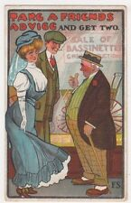 Take A Friends Advice and Get Two, F.S. Comic Postcard B633