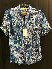 Robert Graham RIVER JORDAN Men's Short Sleeve Sport Shirt Small S $228 New NWT